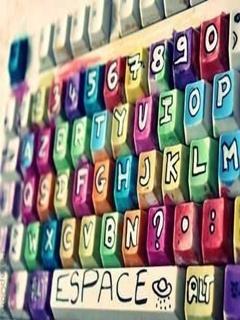 Colors Cute Keyboard Mobile Wallpaper