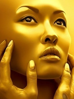 Golden Face Mobile Wallpaper