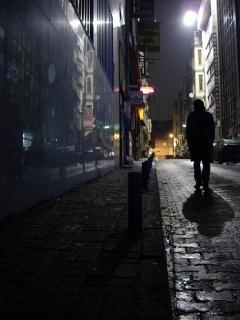 Walking In Dark Mobile Wallpaper