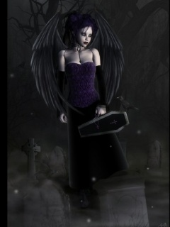 Gothic Angel Mobile Wallpaper