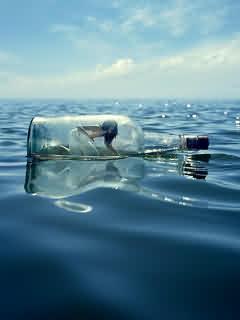 Girl In Bottle Mobile Wallpaper