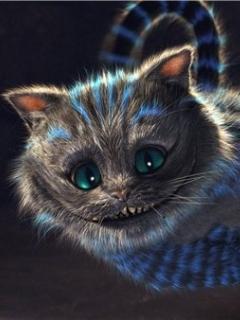 3D Cat Face Mobile Wallpaper