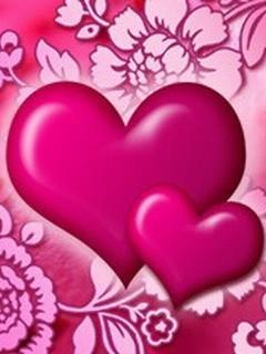 Pink Heart Mobile Wallpaper