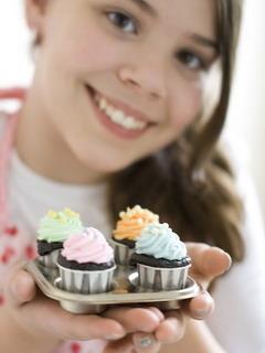 Cupcakes Baked Mobile Wallpaper