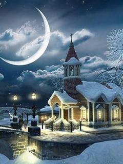 Winter Home Mobile Wallpaper