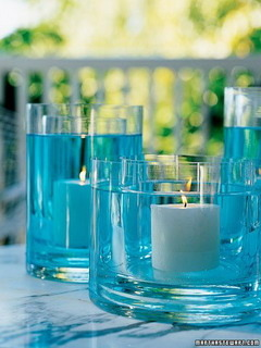 Blue Water Candle Mobile Wallpaper