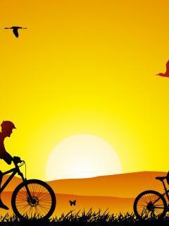 Cool Sunset Mobile Wallpaper
