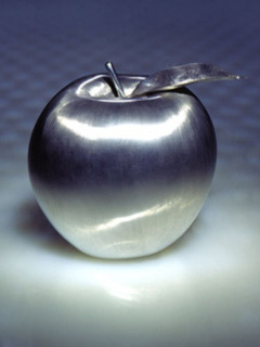 Silver Apple Mobile Wallpaper