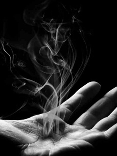 Hand Smoke Mobile Wallpaper