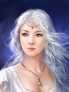 White Beauty Angel Mobile Wallpaper