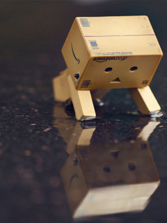 Danbo Reflection Road Mobile Wallpaper