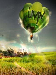 Green Balloon Mobile Wallpaper