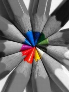 Rainbow Pencils Mobile Wallpaper