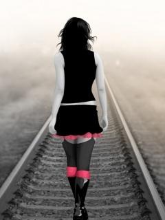 Alone Girl Mobile Wallpaper