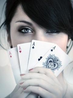 Aces Girl Mobile Wallpaper