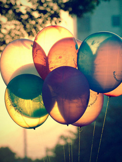 Colors Balloons Mobile Wallpaper