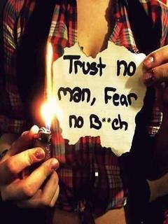 Trust No Man Mobile Wallpaper