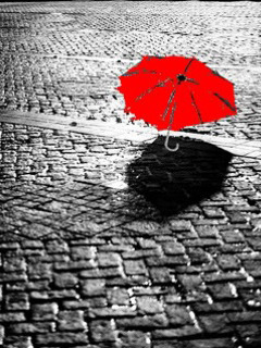 Red Umbrella Mobile Wallpaper