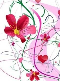 Pink Lovers Mobile Wallpaper