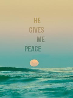 Gives Me Peace Mobile Wallpaper