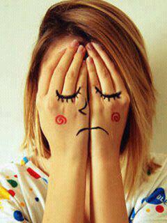 Sad Face Girl Mobile Wallpaper