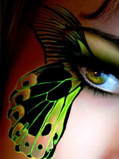 Butterfly On Face Mobile Wallpaper