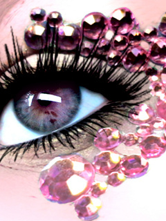 Pink Eye Mobile Wallpaper