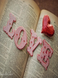 Pink Love And Book Mobile Wallpaper