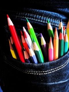 Sooper Pencils Colors Mobile Wallpaper