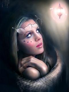 Light Beauty Girl Mobile Wallpaper