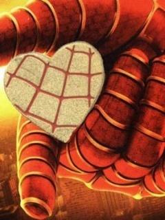 Spider Heart Mobile Wallpaper