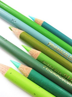 Green Pencils Mobile Wallpaper