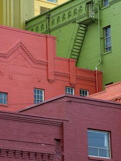 Colorful Bricks Buildings Mobile Wallpaper