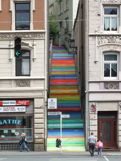 Colorful Stairway Mobile Wallpaper
