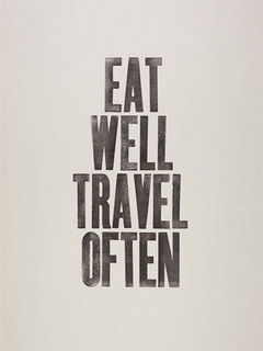 Eat Well Travel Often Mobile Wallpaper