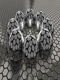 3D Balls Mobile Wallpaper