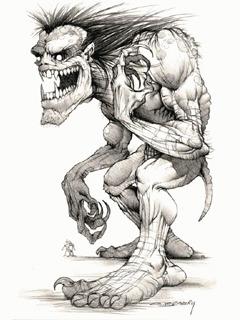 Dangrious Skull Sketch Mobile Wallpaper