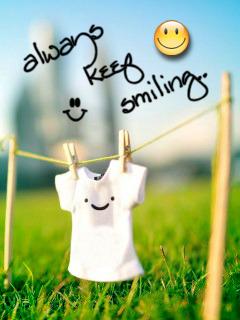 Always Keep Smiling Mobile Wallpaper