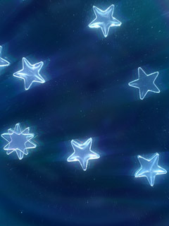 Blue 3D Stars Mobile Wallpaper