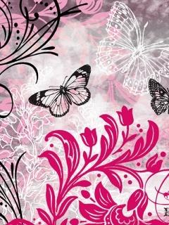 3D Art Butterfly Mobile Wallpaper