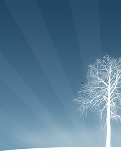 White Forest Tree Mobile Wallpaper