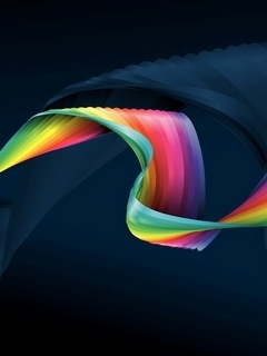 Art 3D Rainbow  Mobile Wallpaper