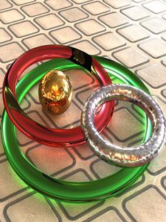 Transparent Rings Mobile Wallpaper