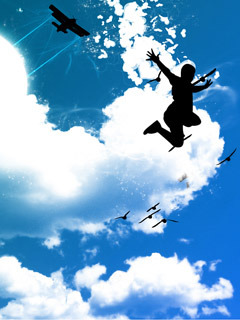 Sky Dive Mobile Wallpaper