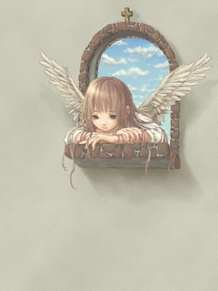 Little Young Angel Mobile Wallpaper