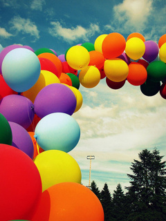 Colors Style Balloons Mobile Wallpaper