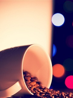 Coffee With Cup Mobile Wallpaper