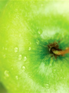 Apple Green Mobile Wallpaper