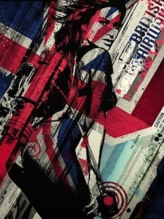 British Hot Girl Flag Mobile Wallpaper