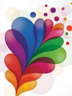 Colors Art Leafs Mobile Wallpaper